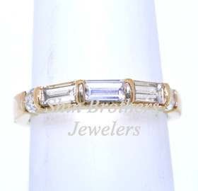 14K Yellow Gold Diamond Wedding Band 11002934