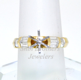 18K Yellow Gold 0.67 ct Diamond Engagement Ring Setting
