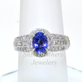 14K White Gold Diamond and Tanzanite Ring 12002158