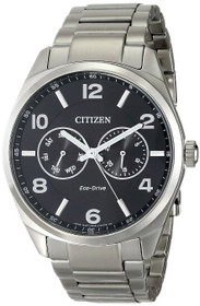 Citizen Men's AO9020-84E Dress Analog Display Japanese Quartz Silver Watch 60000794