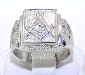 Sterling Silver Men's Masonic Ring 10016409