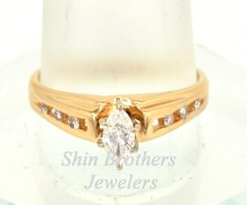 14K Yellow Gold 0.50 CTW Diamond Ring 11001605