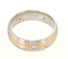 14K Two Tone Gold 0.24 CTW Diamond Wedding Band 11000838