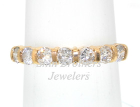 14K Yellow Gold 0.74 CTW Diamond Wedding Band 11000219