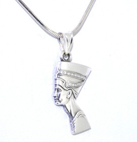 Nefertiti Sterling Silver Charm By Shin Brothers Jewelers Inc 85010372