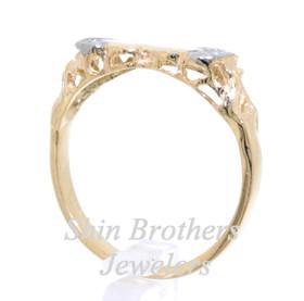 14K Yellow Gold Diamond Double Heart Ring 11003845