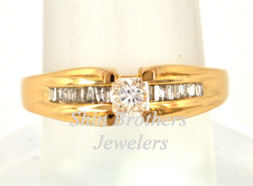 14K Yellow Gold 0.50 CTW Diamond Engagement Ring