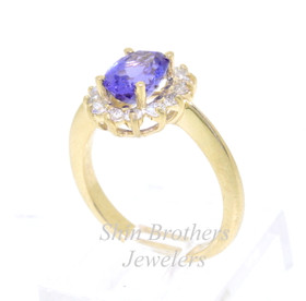 14K Yellow Gold Tanzanite /Diamond Ring 12002271