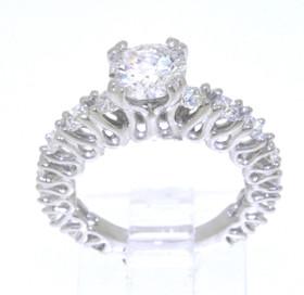 18K White Gold 1.08ct. Diamond Engagement Ring 11003959
