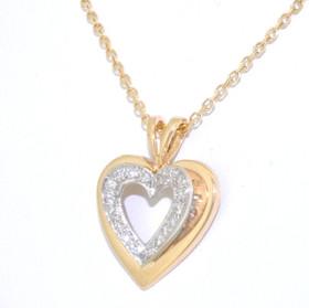 14K Yellow Gold 0.18 CTW Diamond Heart Charm 51001637