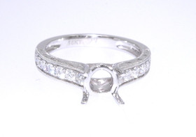 18K White Gold 0.48 ct  Diamond Engagement Ring Setting