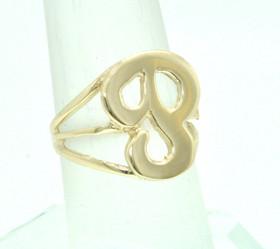 "14K Yellow Gold Initial ""P"" Ring 10000836"