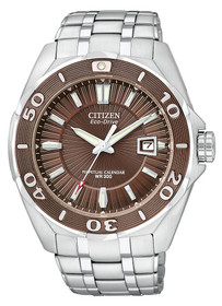 Citizen Signature Eco-Drive Brown Dial Stainless Steel Mens Watch BL1259-51X 60000804