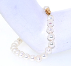 14K Yellow Gold Freshwater Cultured Pearl Bracelet 42002233