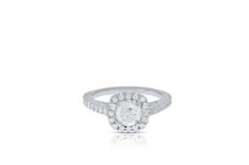 14K White Gold 0.78 carat Diamond Engagement Ring