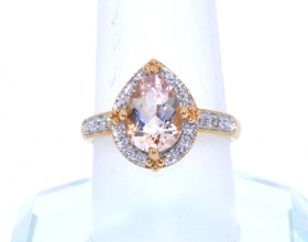 14K Yellow Gold Morganite/Diamond Ring 12002276