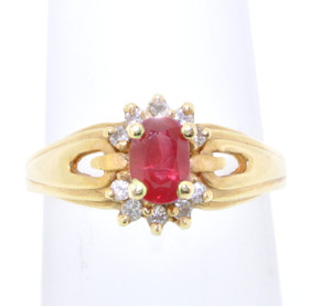 14K Yellow Gold Ruby/Diamond Ring 12000415