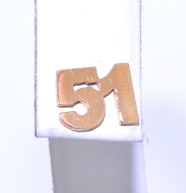14K Yellow Gold #51 Single Earring 50002695