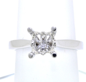 18K White Gold Engagement Ring 2.00ct Setting