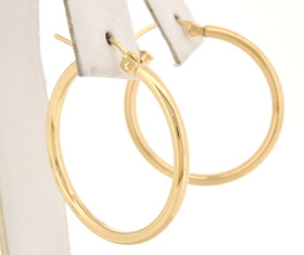 "14K Yellow Gold 1"" Hoop Earrings 40001972"