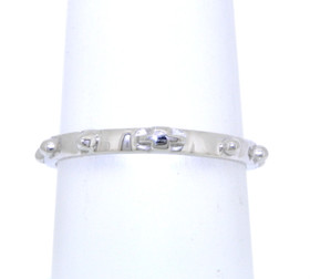14K White Gold Rosary Ring 10016436