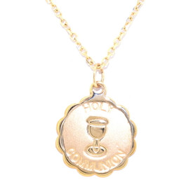 14K Yellow Gold Holy Communion Charm 50002736