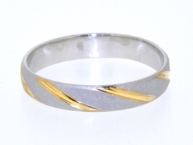 Platinum and 18K Two Tone Gold Wedding Band 10000546