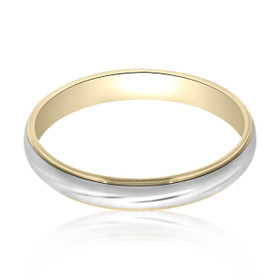 Platinum and 18K Yellow Gold Wedding Band 10000787