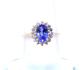 14K Yellow Gold 1.89 ctw Tanzanite/Diamond Ring 12002274