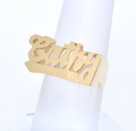 14k Yellow Gold Cathy Personalized Name Ring 13300036