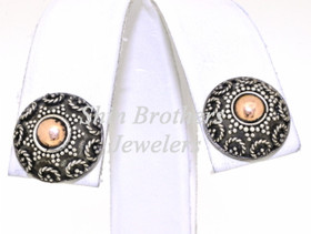 Sterling Silver Antique Finish Stud Earrings 84210074