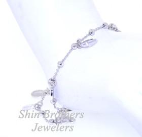 Sterling Silver Cross and Medal Bracelet 82010391