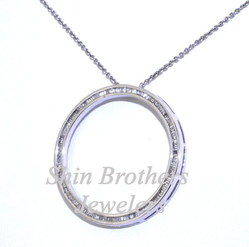be6799afe7c6ad ... 14K White Gold Diamond Circle of Love Pendant With 18