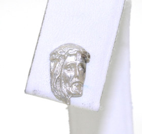 14K White Gold Jesus Head Single Earring 40001929