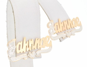 "14k Two Tone Gold ""Jahnnae"" Earrings 43300030"