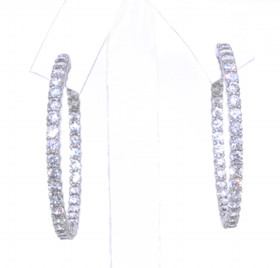 Sterling Silver CZ Hoop Earrings 84010327