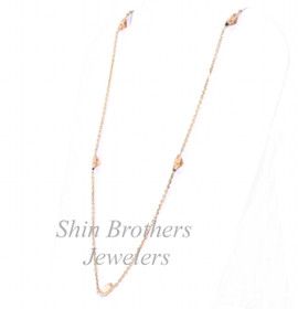 14K Yellow Gold Yellow Topaz Chain Necklace 32000301