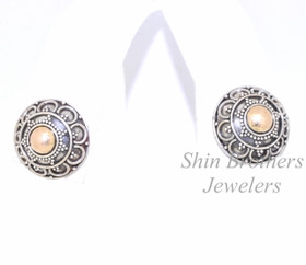 Sterling Silver Antique Finish Stud Earrings 84010329
