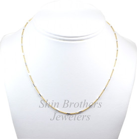"Sterling Silver Gold Plated 16"" Cable Chain Necklace 83010545"