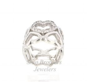 Sterling Silver 0.42 CTW Diamond Heart Ring 81010352