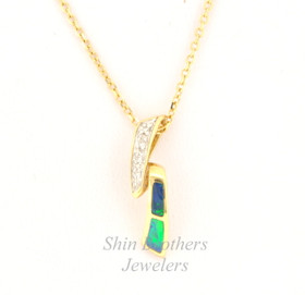 14K Yellow Gold Opal/Diamond Charm 52000136