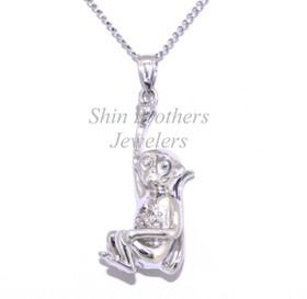 Sterling Silver Diamond Monkey Charm 85010441