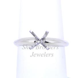 Platinum Four Prong Engagement Setting Ring