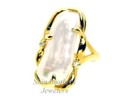 14K Yellow Gold Baroque Pearl Ring 12002408