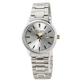 Citizen BF0614-90A Men's Easy Reader Silver Dial Two Tone Expansion Steel Band Watch 60000843