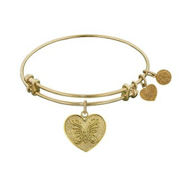 Angelica Collection: Generation Rescue-The Angelica Heart Butterfly Bangle GEL1035