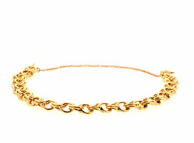 14K Yellow Gold Charm Bracelet With Safety Chain By Shin Brothers Jewelers Inc 20001320