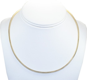 14K Two Tone Gold Omega Necklace 30002406