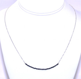 "14k White Gold & 18""Black Diamond Necklace 22200093"