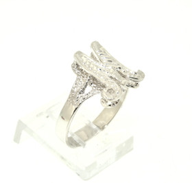Sterling Silver M Initial Ring 81010386